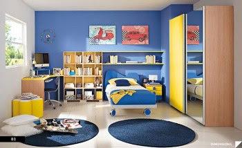 Desain Kamar Tidur Anak Nuansa Ceria