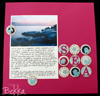 Sea Scrapbook Page