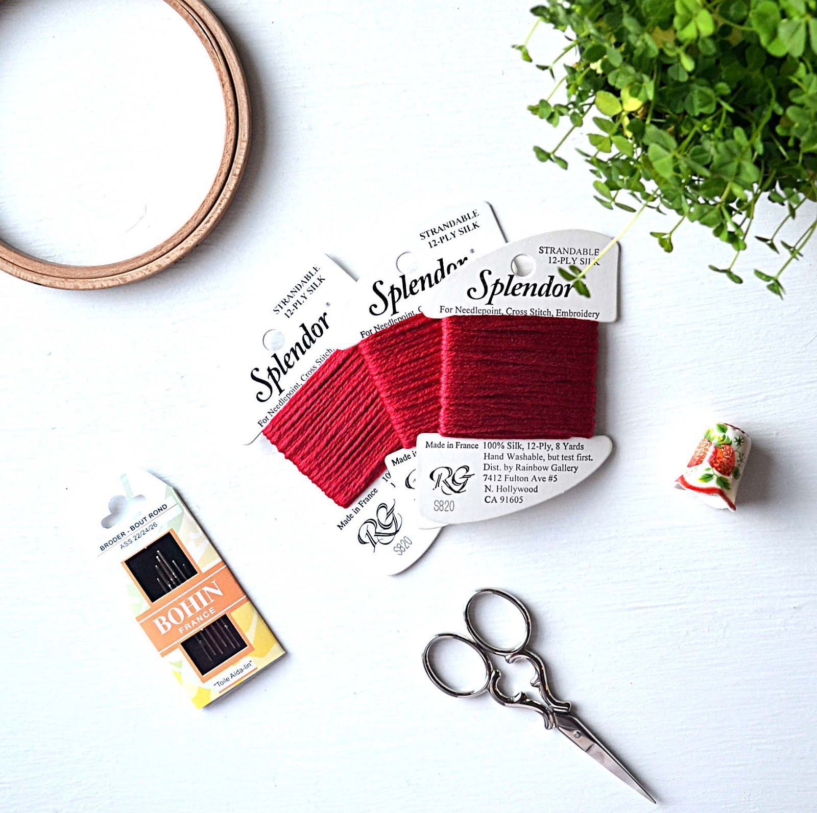 Red French Silk Thread