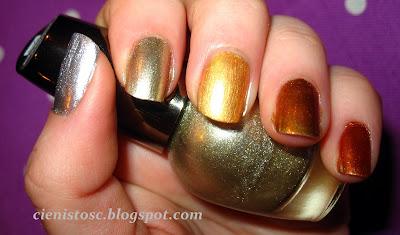 Srebrno-złote ombre