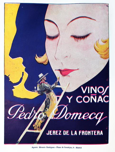 Publicidad Vino y Coñac Pedro Domecq