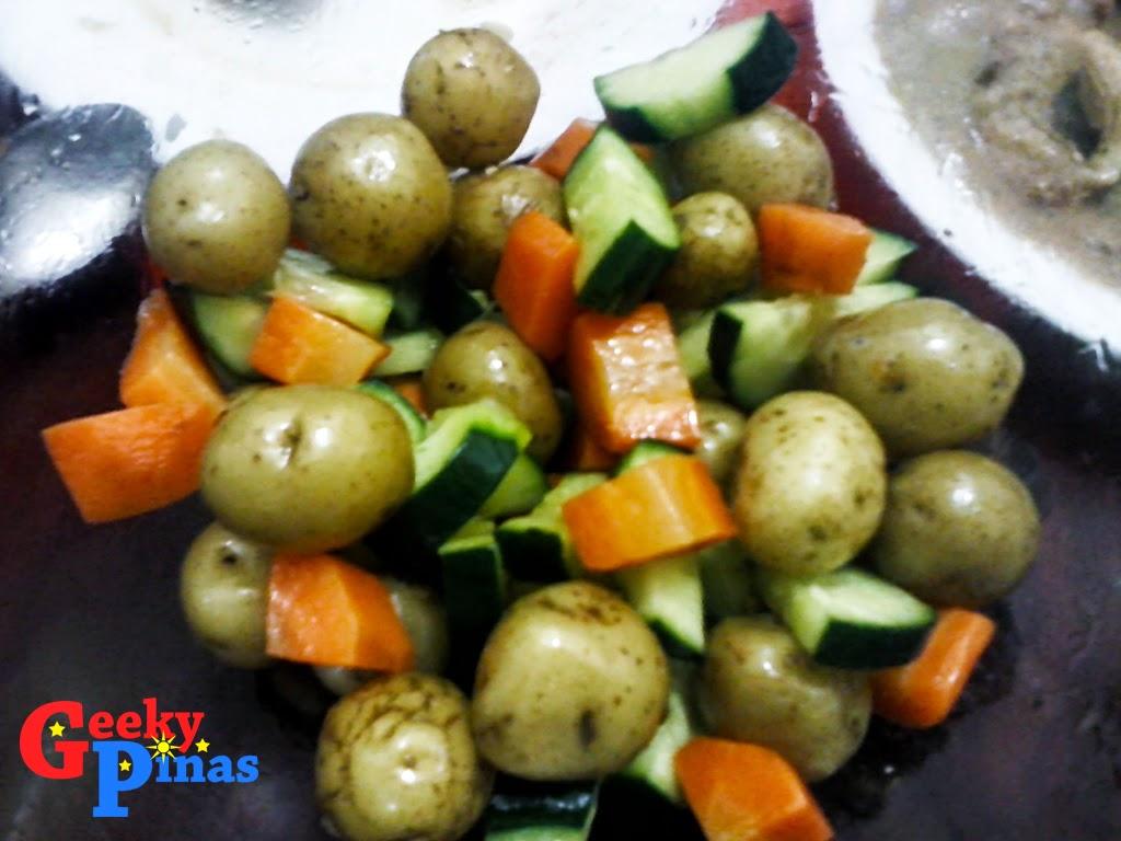 Geeky Pinas Potato Marble Salad