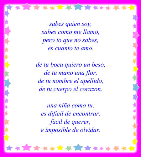 versos lindos