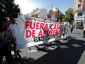 Manifestación en Tetuán contra las casas de apuestas