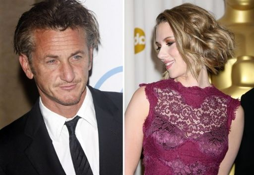 sean penn and scarlett jo. sean penn and scarlett jo.