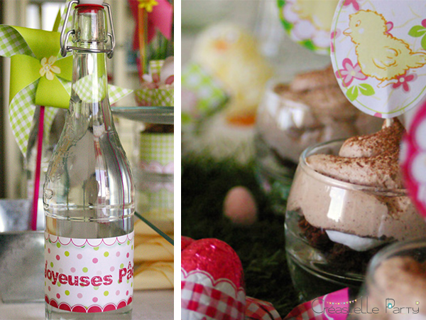Easter garden party stationery topper & bottle label