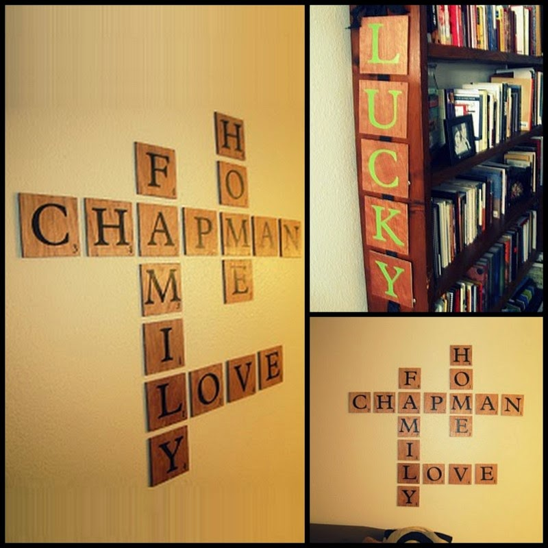 Diy Scrabble Wall Art - Elitflat