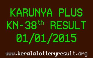 KARUNYA PLUS Lottery KN-38 Result 01-01-2015