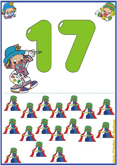 Numerais de Parede Patati Patatá 11 a 20