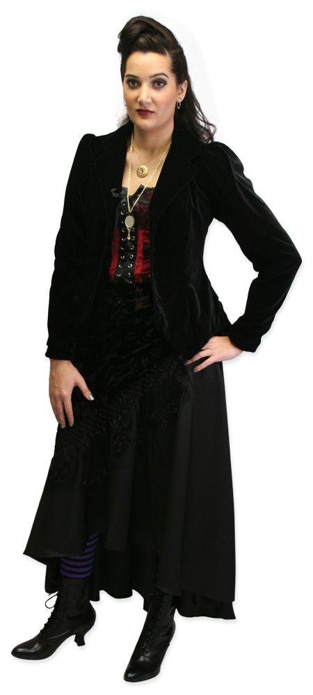 Black Modern Steampunk Clothing for Women