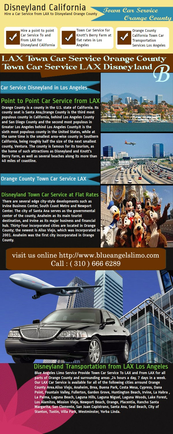 Orange County Disneyland Transportation Car Service
