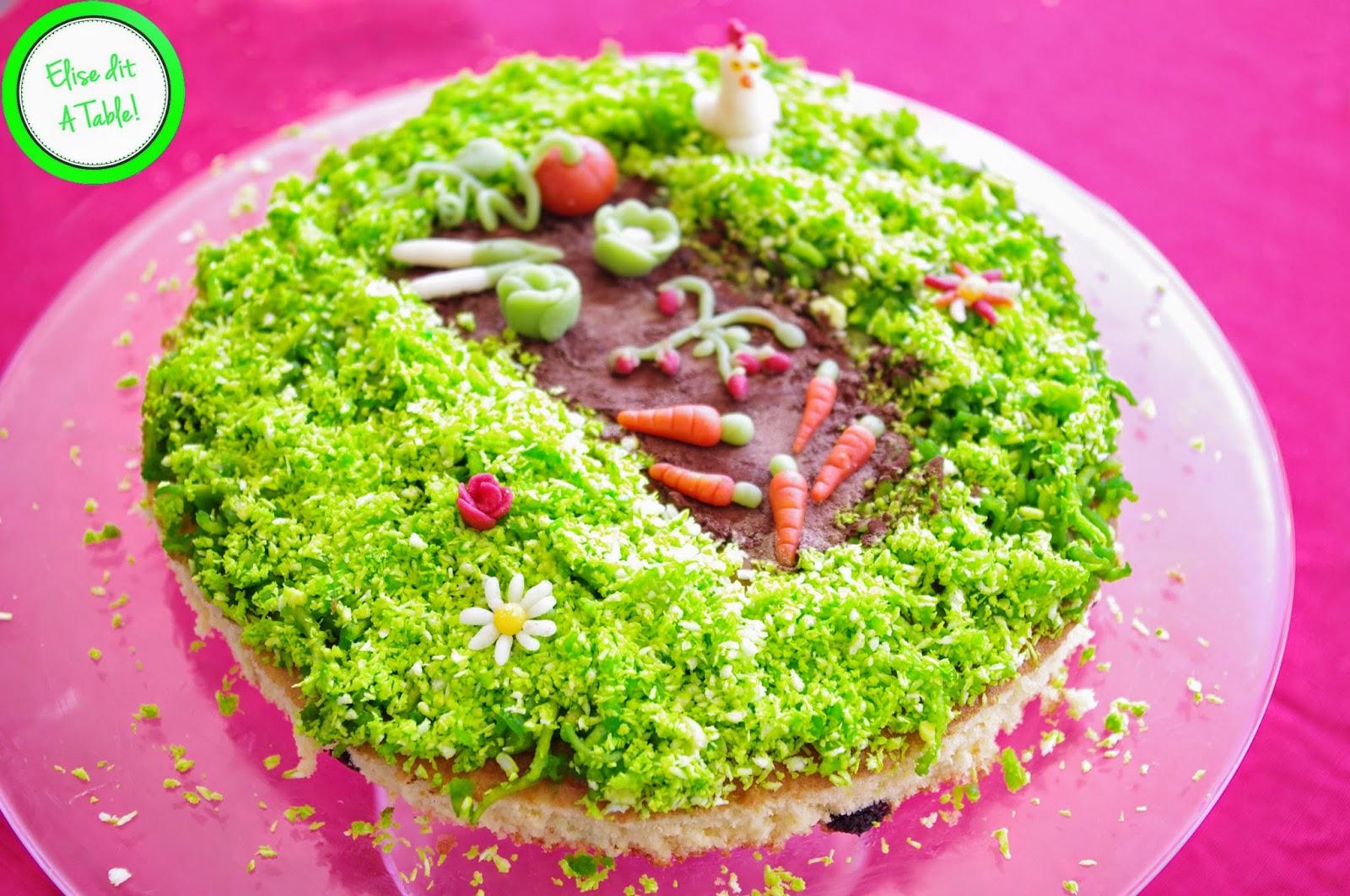 Gâteau anniversaire thème potager
