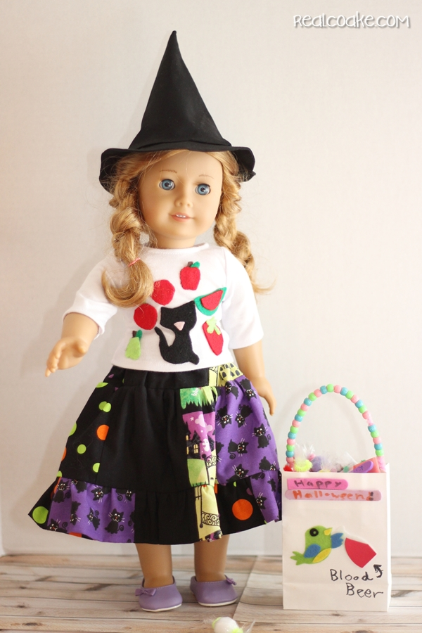 Halloween Doll Skirts - 2 ways {American Girl Doll Clothes Pattern}