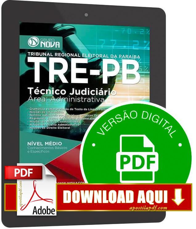 Apostila TRE PB 2015 PDF Download Técnico Judiciário