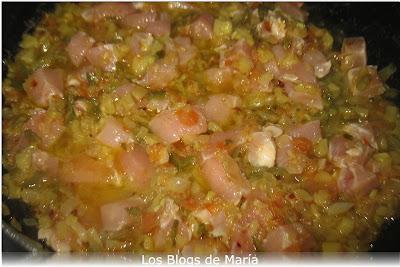 Arroz Sos clásico redondo con pollo ( en amarillo )