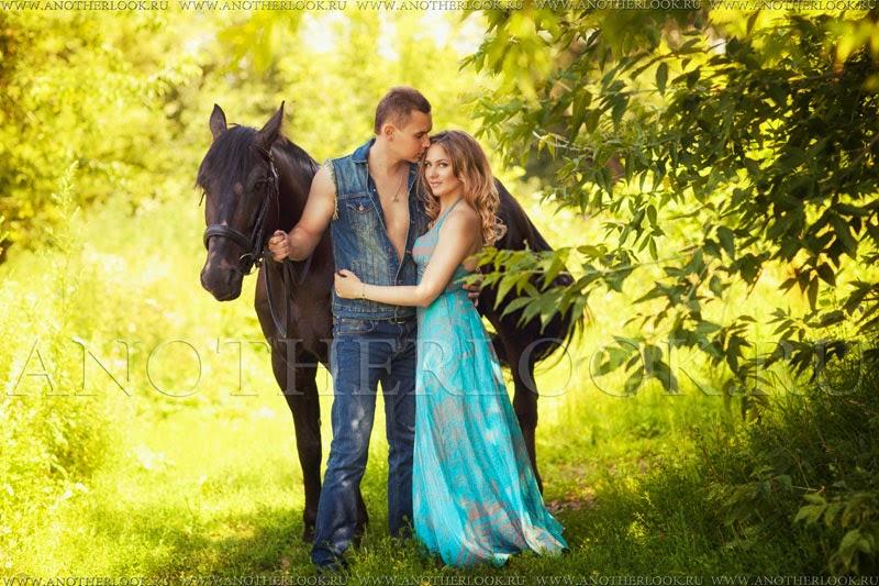 романтическая фотосессия с лошадьми