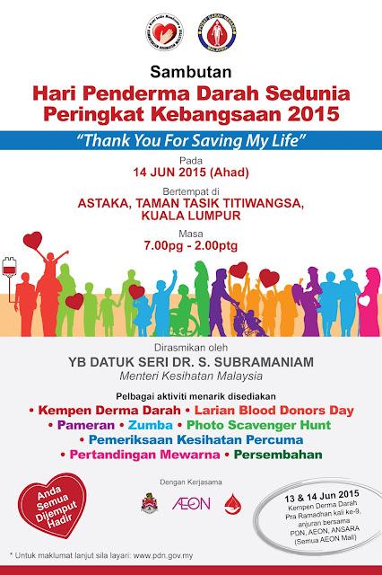 Poster Hari Penderma Darah