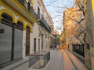 A restored street in Old Havana