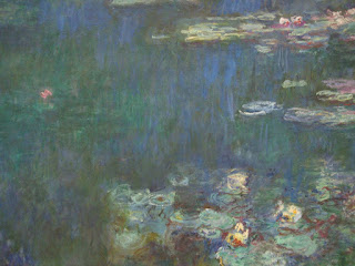 Fragment of Water Lilies by Claude Monet, L'Orangerie, Paris, 2011 photo by Maja Trochimczyk