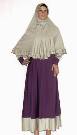 Gamis Premium Dua Warna Gkm4662 Grosir Baju Muslim Murah