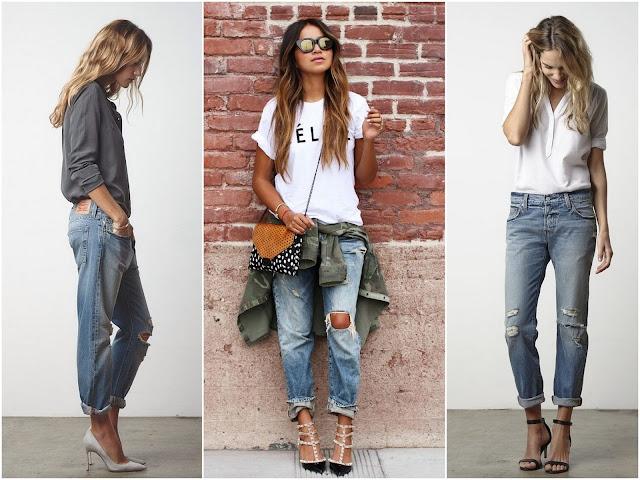 что носят с джинсами бойфрендами