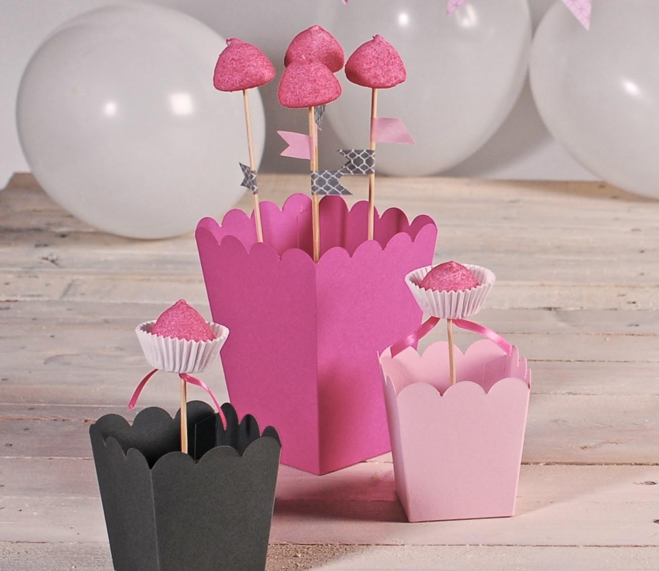 cajas para cake pops, cajas para fiestas, cajas para bodas, cajas de palomitas, postizos para cake pops