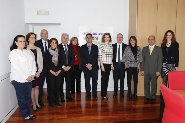Queen Letizia of Spain attends a meeting with the Board of the Spanish Federation of Rare Diseases (FEDER)