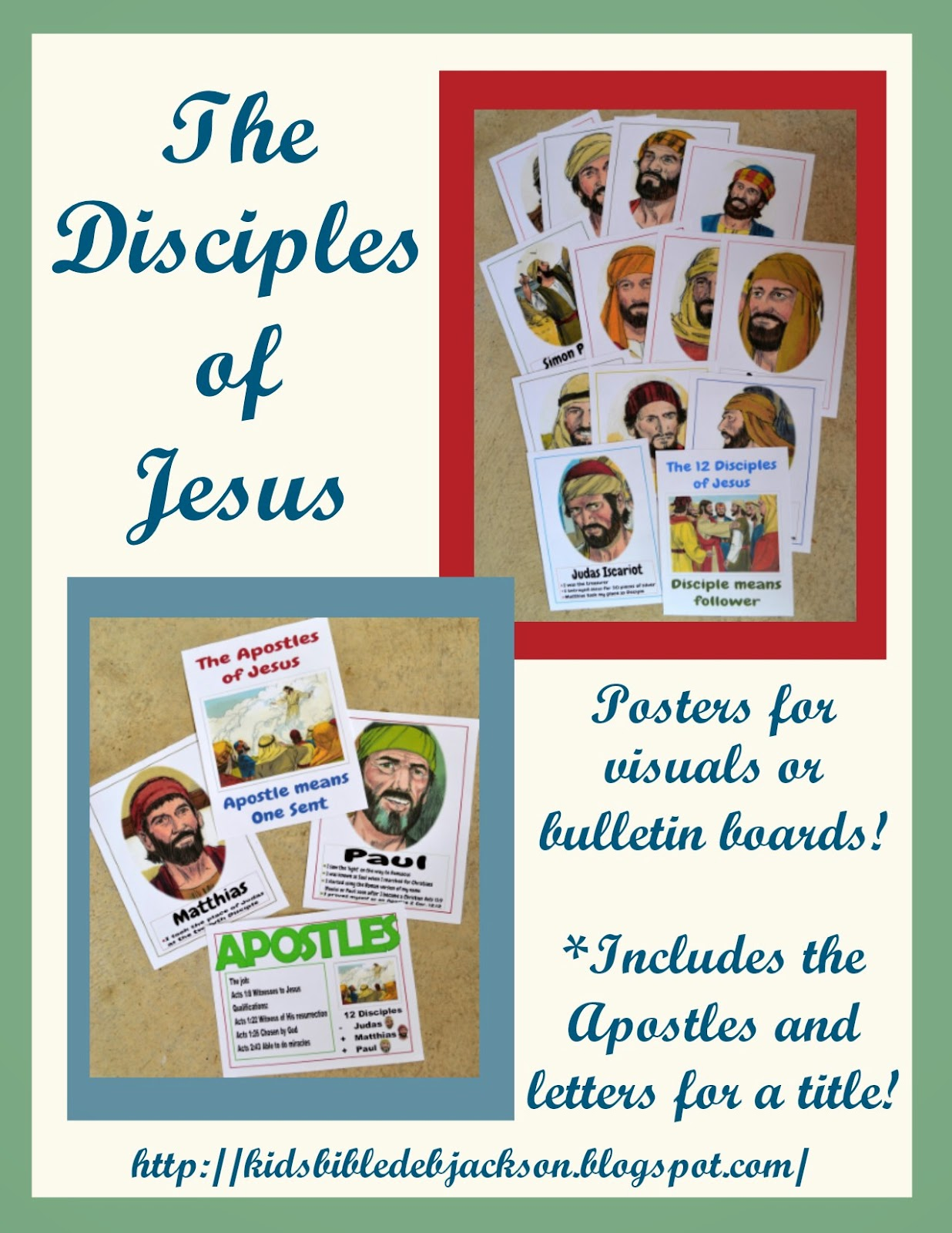 For kids disciples vs apostles posters file folder game and more