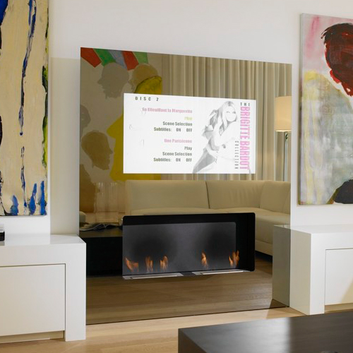 Minimalist Fireplace With Built In LCD TV Home 4us