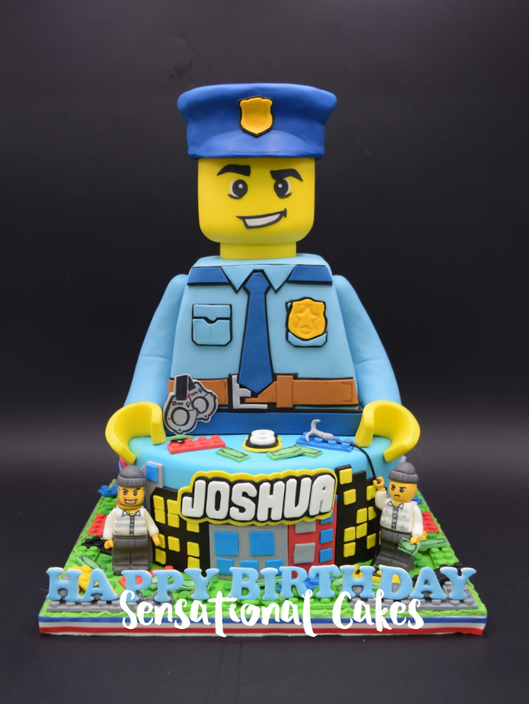 The Sensational Cakes Lego Police Figurine 3d Cake For Boys Party