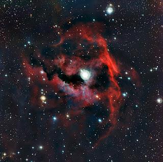 Туманность Чайка - голова космической чайки