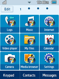 General Windows 7 Samsung Corby 2 Theme Menu