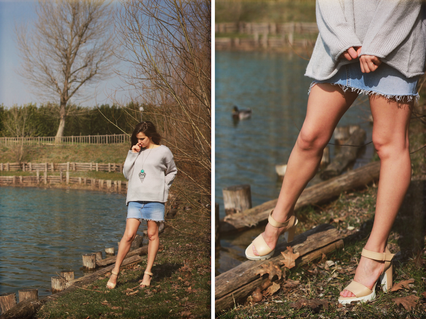 fashion blogger milan wearing levis skirt zara sandals wildfox sweater