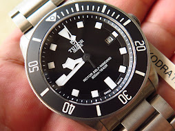 TUDOR PELAGOS BLACK DIAL BLACK BEZEL 42MM - TITANIUM CASE AND BRACELET - AUTOMATIC-YEAR 2015-MINTS