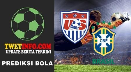 Prediksi USA Amerika vs Brasil, Uji Coba 09-09-2015