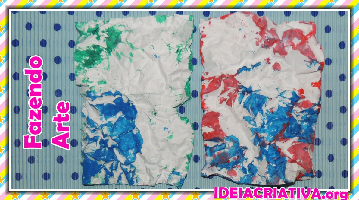 Amado Arte Educação Infantil Pintura em Papel Amassado   Ideia Criativa  MR74