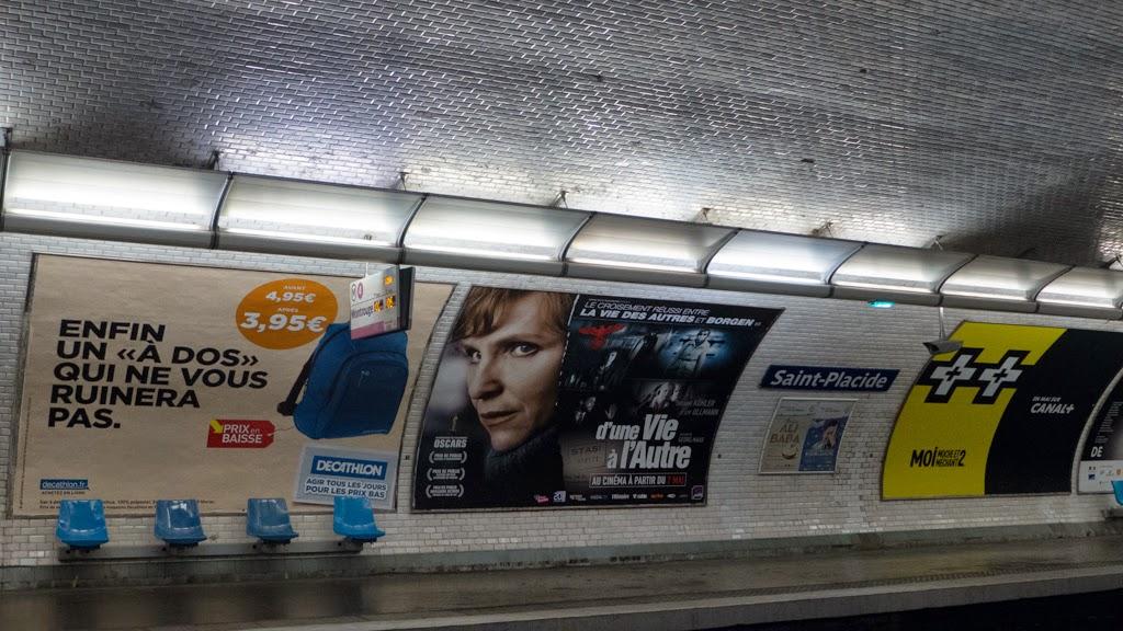 Paris France metro station St Placide