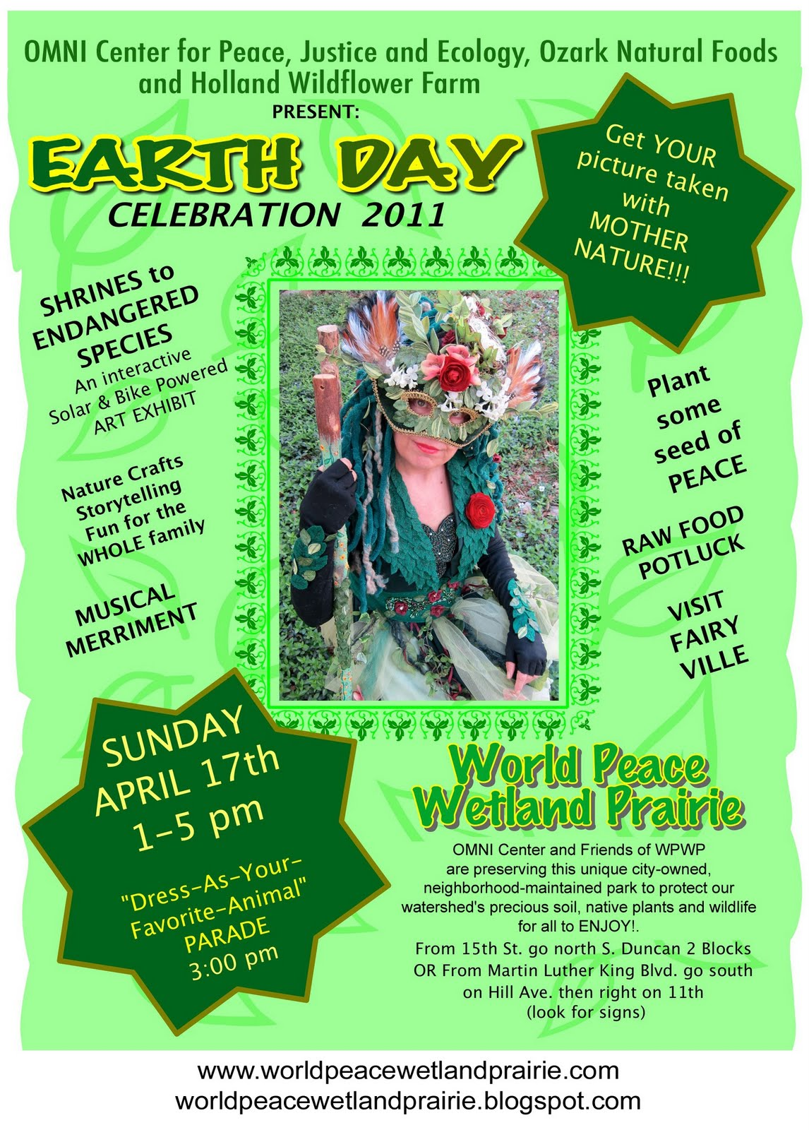 Invitation To Attend Earth Day 2011 At World Peace Wetland Prairie And Share Your Information On Environmental Natural Resource Conservation