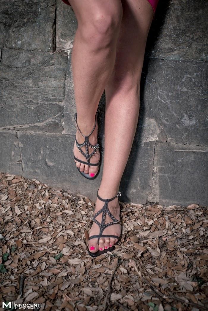 sandali borchie