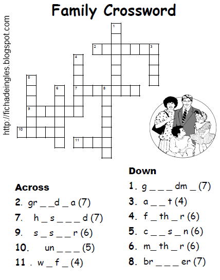La Familia Crossword Puzzle