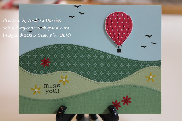 Miss-you card made with Stitched Hillside Borders dies from Lawn Fawn and Up, Up & Away stamp set from Stampin' Up!