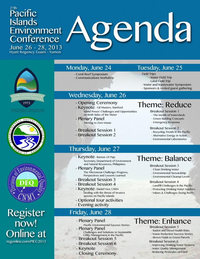 Micronesia Challenge 061713 GUAM Pacific Islands Environment – Conference Agenda
