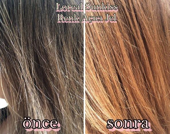 Loreal- Casting-Sunkiss-Saç-Rengi-Açıcı-Jel-Öncesi-sonrası-fotoğrafları