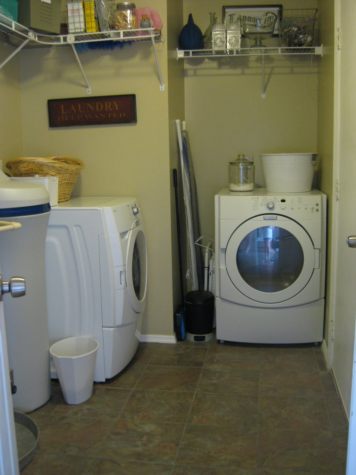 Becker Family Adventures Laundry Room New Floor