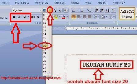 gambar Cara Mengedit Font/huruf di Microsoft word