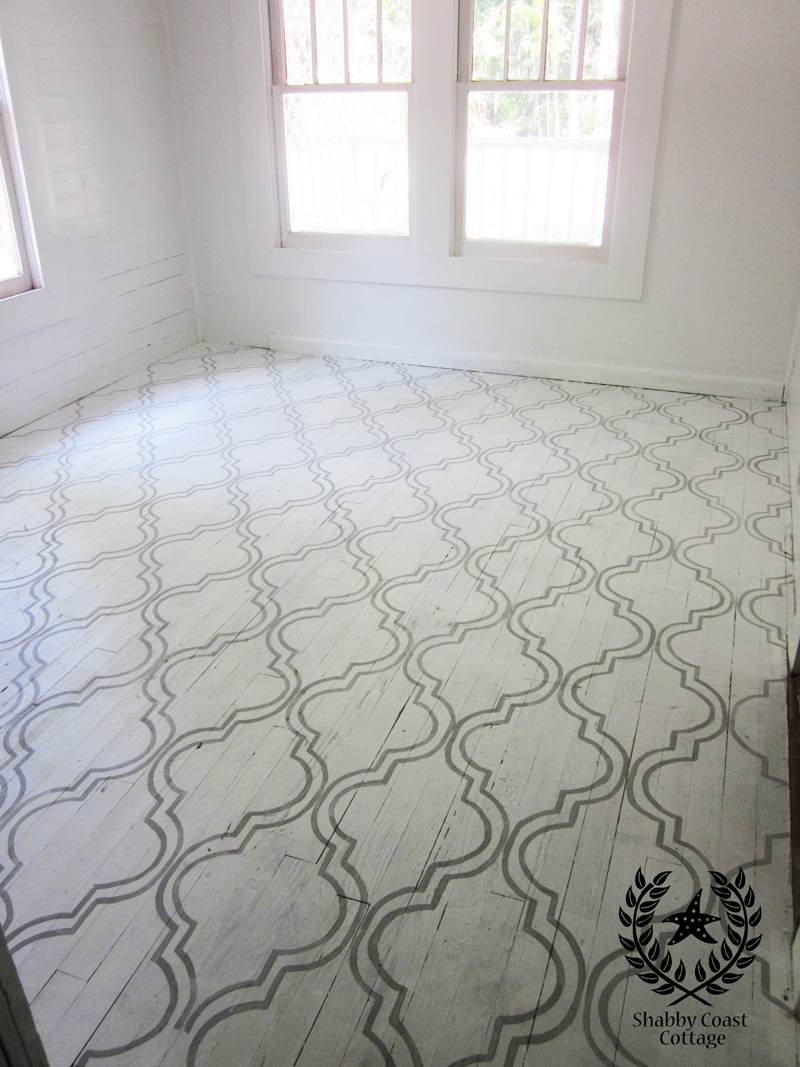 Painted Floor Simple Of Annie Sloan Chalk Paint On Floors Picture