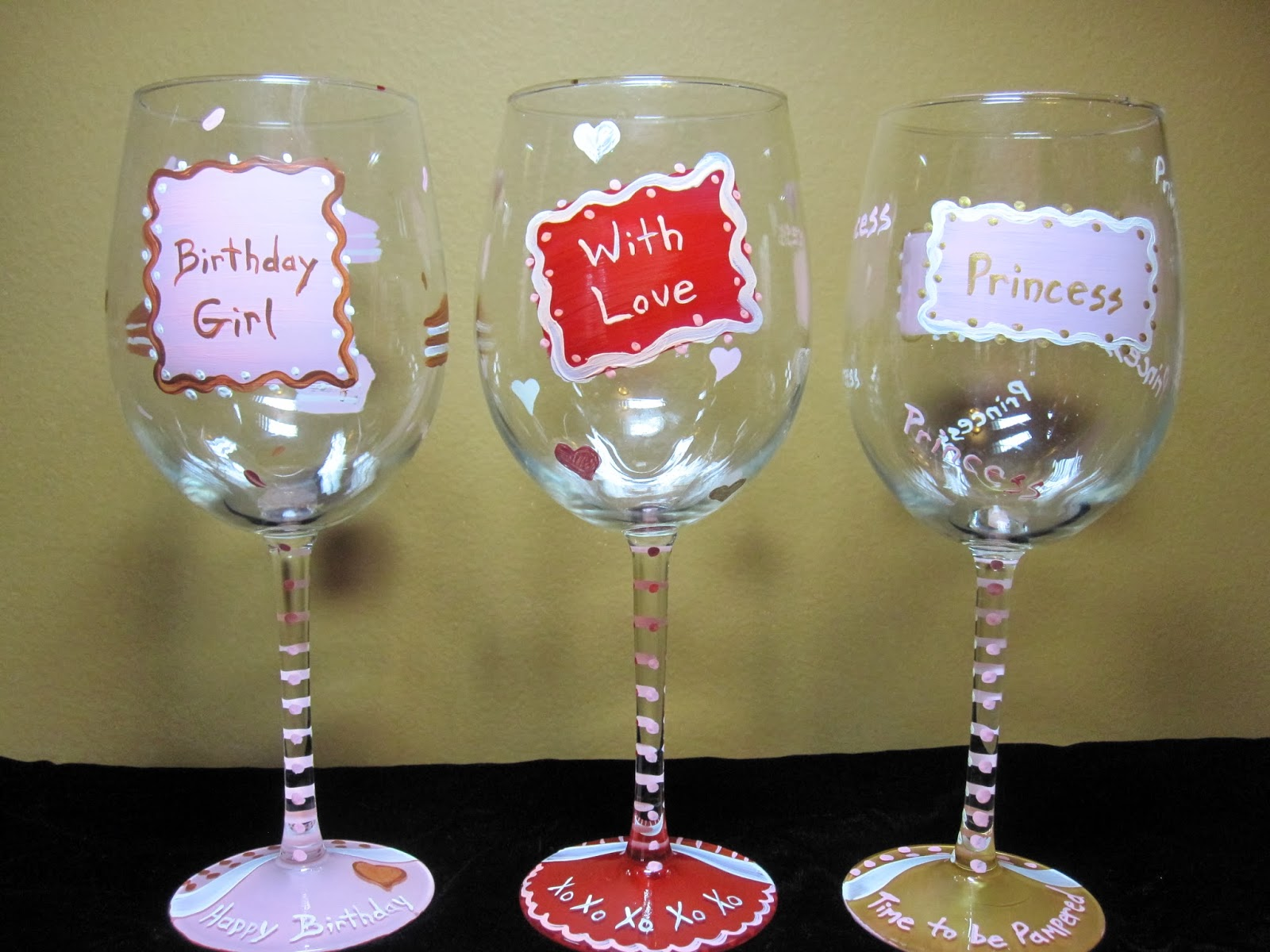Wine Glass Painting Design Ideas