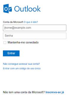 Passo a passo parar criar um e-mail Outlook