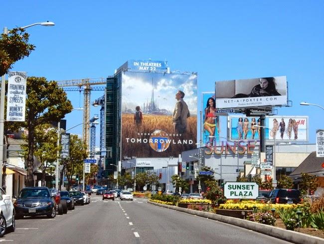 Giant Tomorrowland movie billboard