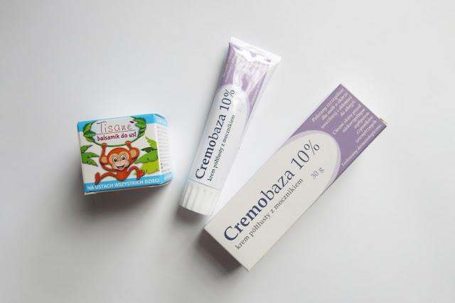 Tisane: balsamik do ust oraz Cremobaza: krem półtłusty z mocznikiem.